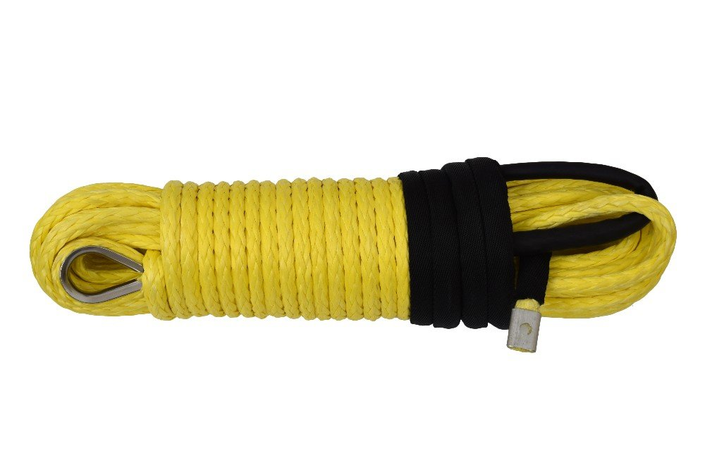 3//8inch x 94feet Winch Cable,Replacement Synthetic Rope for Winch,for Offroad Parts,Synthetic Winch Cable Green