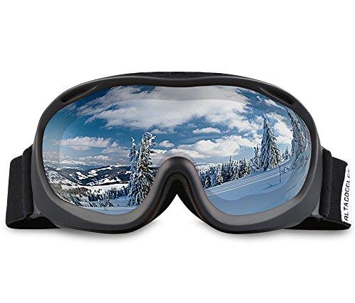 ALKAI Alta Ski Goggles, Snowboard Goggles – Anti-Fog, 100% UV Protection, Double-Layer Spherical Lenses, Helmet Compatible Medium Fit Snow Goggles for Men & Women