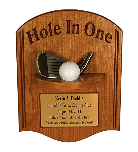 - Eureka Golf Products Hole-in-One Plaque with Iron & Free Engraved Plate