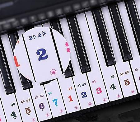 49/54/61 calcomanías de teclado para piano,guía del usuario ...