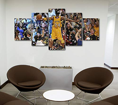 5 Piece Famous People Mafia Drug Dealers Poster Canvas Print Art Decor Wall Like Painting Look (5 Piece Medium, Kobe Bryant Celebrating Laker Championship)