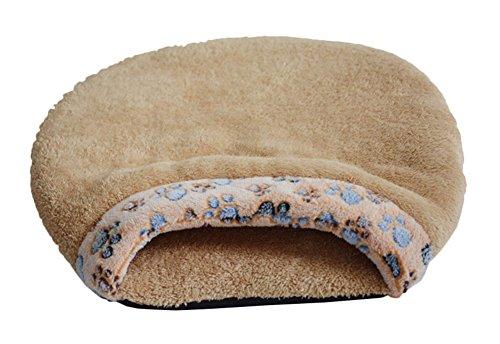 [Freerun Indoor Fleece Pet Sleeping Bag Warm Soft Puppy Small Dog Cat Kitten Cave Bed (Brown, L)] (Link Dog Costumes)