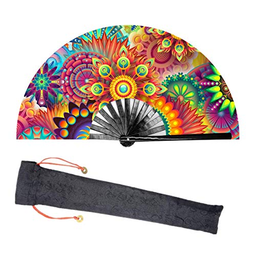 Lysa Large Rave Folding Fan for Men/Women-Chinese/Japanese Bamboo