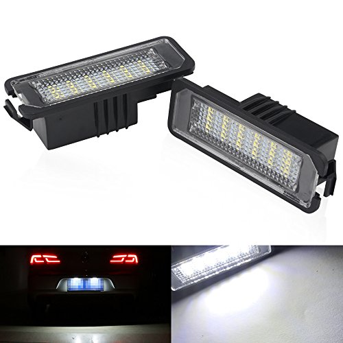 light Error Free License Plate lights Replacement Light Lamp Direct Fit For Volkswagen Golf GTI CC Eos Scirocco Beetle Phaeton Rabbit Passat ()