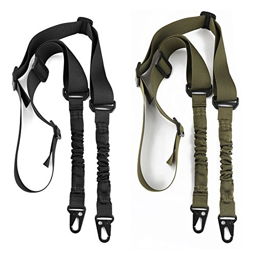 accmor 2 Point Rifle Sling, 2 Pack Multi-Use 2 Point Sling with Length Adjuster for Hunting, ()