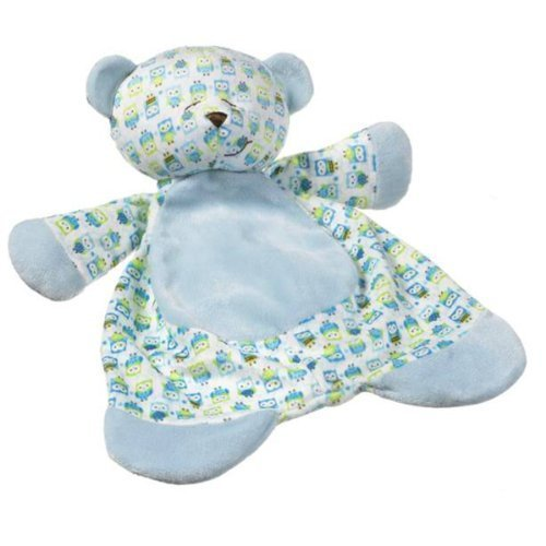 Ganz Sleepytime Bear Baby Blanket, 17-inch, Blue