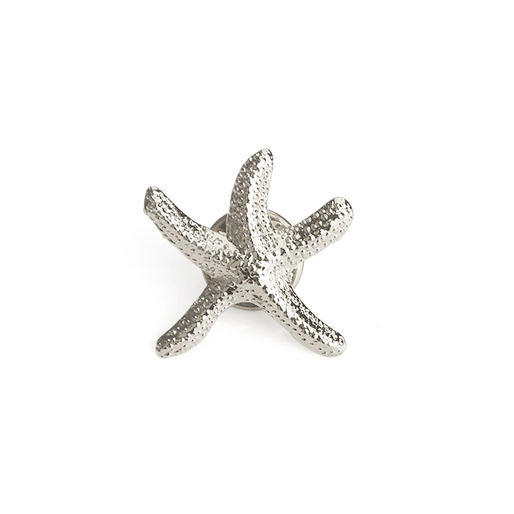 ALICE 3D Cast Starfish Lapel Pin Brooch, 3/4'' W x 1'' L-Silver-50PCS by Alice