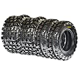 Set of 4 SunF A027 ATV Tires 21x7-10 Front 20x11-8 Rear 6 PLY