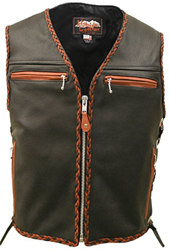 The Elite Braided Vest (40, Black / Orange)