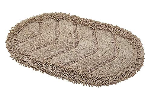 (JSJ_CHENG Chenille Cotton Bath Rug Mat, Soft and Absorbent Shaggy Rugs for Bathroom, Kitchen, Doormats (19.6inch by 31.4inch,)