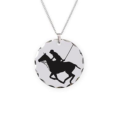 9fddfd36a Amazon.com  CafePress - Polo Pony Silhouette - Charm Necklace with ...