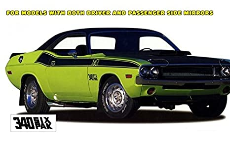Amazon Com 1970 Dodge Challenger T A Side Stripes Kit In Flat Black