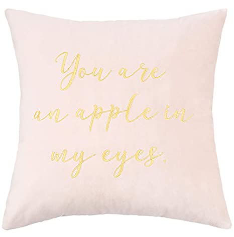 La almohada Terciopelo bordado carta de amor almohada sofá ...