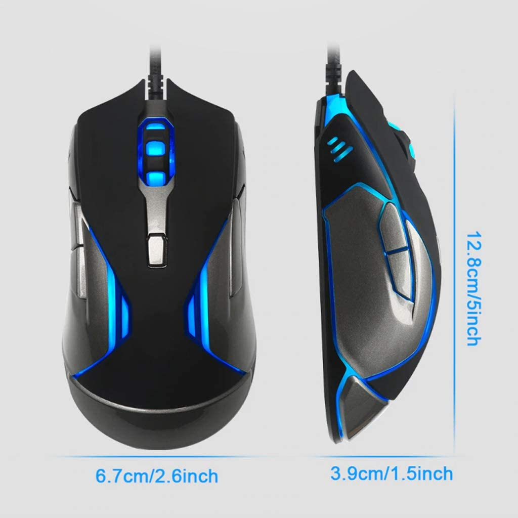 Gaming Mouse USB Wired Gaming Mouse 6 Button Ergonomic Design Mouse LED Multicolor Light Ergonomics