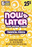Now and Later Tropical Punch Flavored Candy Twenty Four 6-piece Bars, 22.32 OZ.