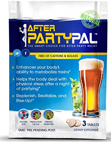 AfterPartyPal - Natural Hangover Relief & Hangover Prevention | 5-PACK Hangover Pills Detox Kit | Enhance your body's ability to metabolize toxins | Replenish & Revitalize | 100% Money Back Guarantee!