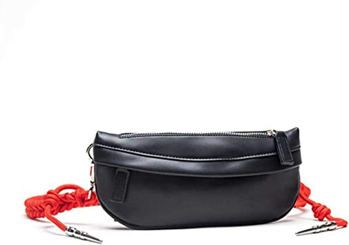 Bolsa de Cintura, Cinturón de Correr, Braided Knot Waist Bag Luxury Designer Chest Bag Leather Women s Fashion Belt Bag Crossbody For Women Black: Amazon.es: Equipaje