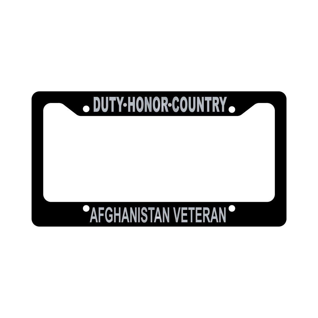 Afghanistan Veteran auto license plate frame