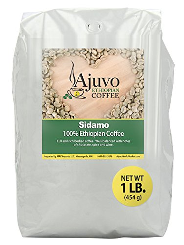 Ethiopian Sidamo Coffee - Green, Unroasted Whole Bean (1 lb.)