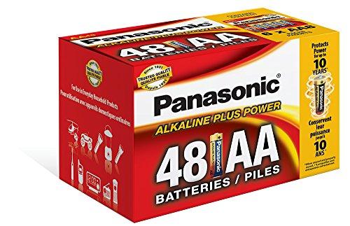 Panasonic Energy Corporation LR6PA/48PC Alkaline Plus Power AA Alkaline Battery, 48 Pack