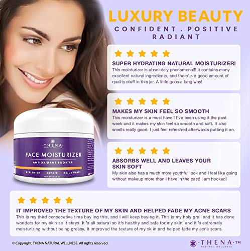 51cLYepfrDL - Anti Aging Face Moisturizer Cream For Dry Sensitive Skin, Organic Natural Facial Cream Anti Wrinkle Hyaluronic Acid Retinol Vitamin C, Face Lotion Eye & Face Care Skin Care Products Women Men