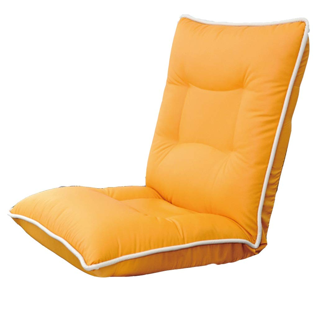 Chairs Floor Chair Sofa Chair Recliner Armchair Three-Body Adjustment Chair Bedroom Bed Backrest Recliner Balcony Tatami Lazy Chair ZHAOYONGLI (Color : Orange, Size : 546762cm) by ZHAOYONGLI-chairs