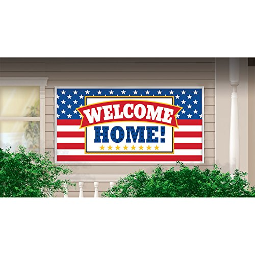 Welcome Home Patriotic Party Banner