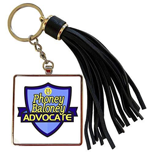 3dRose Dooni Designs - Funny Sarcastic Advocate Designs - Phoney Baloney Advocate Support Design - Tassel Key Chain (tkc_242753_1)
