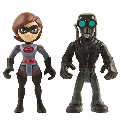 Action Figure Two Pack - The Incredibles 2 the Incredibles 2-3-Inch Precool Elastigirl & SS 2-Pack Action Figures