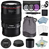 Canon EF 100mm f/2.8L Macro IS USM Lens + Canon EF 100mm Lens Advanced Accessory Kit - Canon Lens Bundle Includes EVERYTHING You Need to Get Started