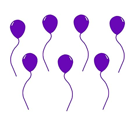 Balloon decals vinyl wall art stickers peel and stick 7 pack colorful balloons purple