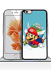 IPhone 6 Plus Funda Case, Game - Super Mario Sunshine Impact Resistant Durable Aesthetic Personalized Style Anti Dust Extra Slim Compatible with IPhone 6 6s Plus [5.5 inch]