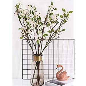 Skyseen 3Pcs Artificial Eucalyptus Leaf Floral Stem Faux Greenery Cold Flocked Eucalyptus Leaf Spray for Party Home Craft Décor 100