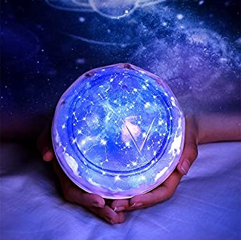 Creativo proyector LED noche luz dormitorio mesita de noche niña ...