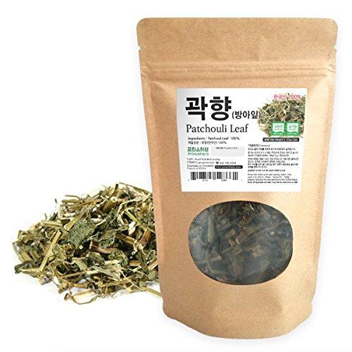 Patchouli Leaves - [Medicinal Korean Herb] Patchouli Leaf/Guanghuoxiang / 곽향 Dried loose leaves 2oz (57g)
