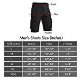 Hiauspor Mens Hiking Shorts Casual Cargo Shorts