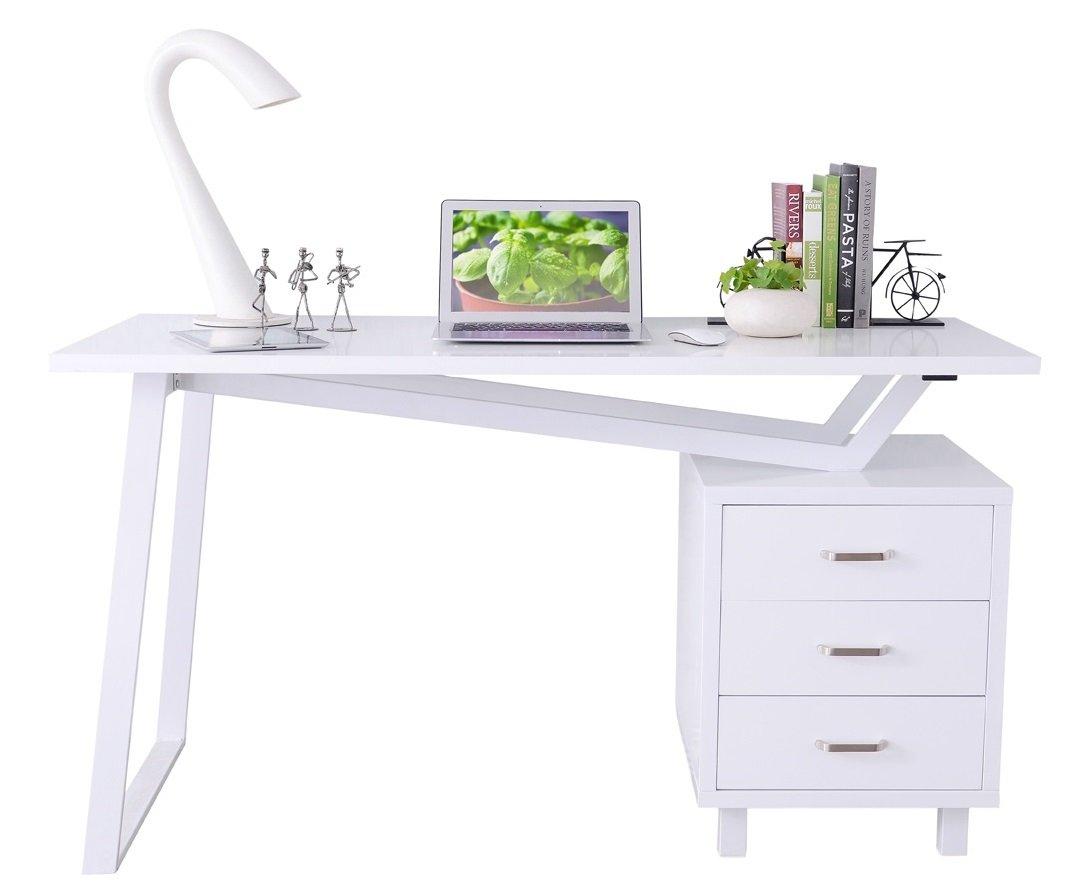 SixBros. Office - Scrivania porta pc bianco lucido - CT-3533/2181