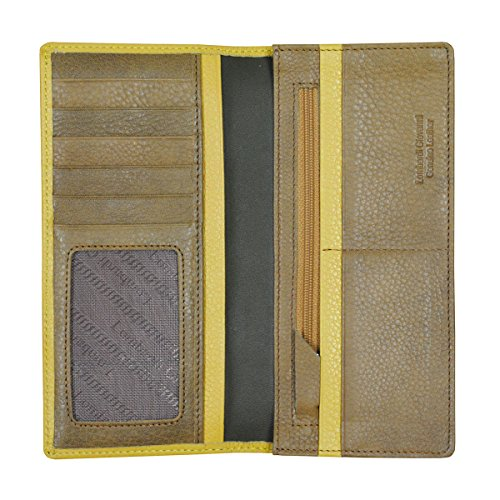 Leather Yellow Zipper 10 Giovanni Men's Long Id Wallet 3850 And Brown 2 Photo 1 and Lombardi Slots Tones gUAqx