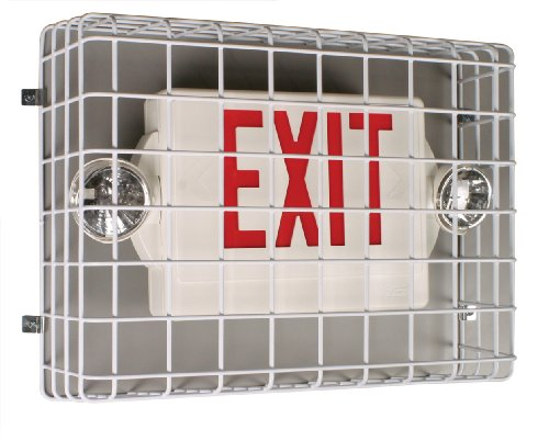 ternational, Inc. STI-9740 Exit Sign Damage Stopper, Protective Coated Steel Wire Guard (Sti Stopper)