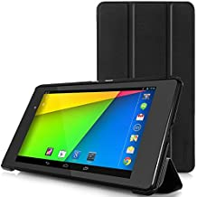 MoKo Google Nexus 7 2013 FHD 2nd Gen Case - Ultra Slim Lightweight Smart Shell Stand Cover Case with Auto Wake / Sleep for Google Nexus 2 7.0 Inch 2013 Generation Android 4.3 Tablet, BLACK