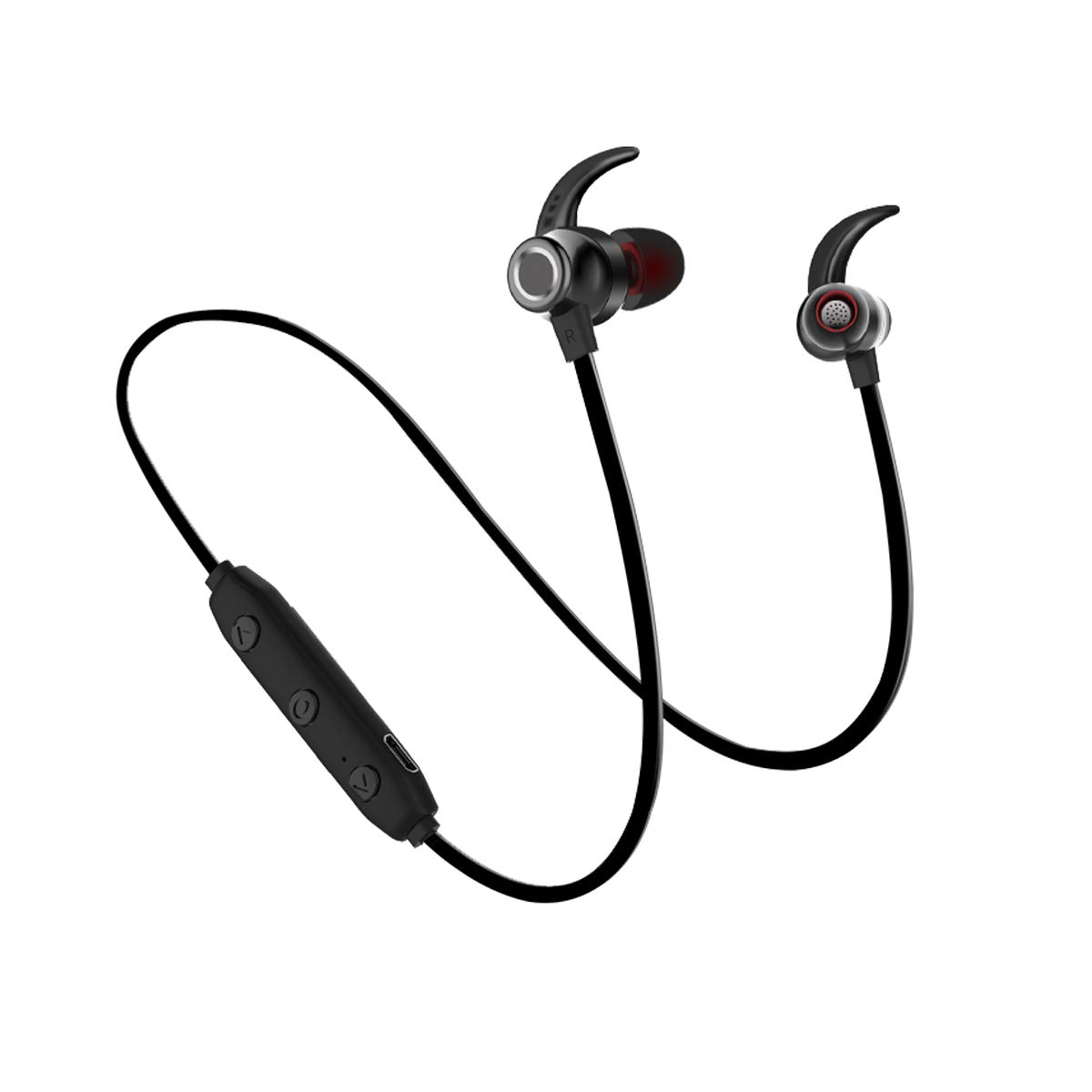 694425a1563 Wireless Bluetooth Earphone Noice Cancelling Earbuds Earplug Headphones for  Runner Headset with MIC Sweatproof & Waterproof Bluetooth 4.1
