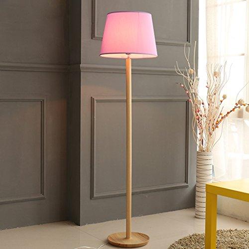 Lámpara de pie LED Dormitorio de tela simple Lámpara de cabecera de ...
