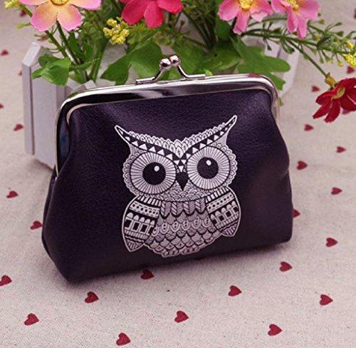 Portafogli ,SW Donne Ragazze Cute Owl Pelle PU Wallet Card Portachiavi Moneta Borsa Frizione Borse Moda Sacchetto