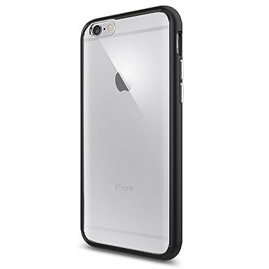 classic fit 4f8d5 1d5a2 Spigen [Ultra Hybrid] [Black] Case for iPhone 6 / 6S, TPU Bumper Hard PC  Back Slim Protection Phone Cover for iPhone 6 Case/iPhone 6s Case