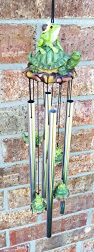 Pond Green Frog And Turtle Best Friends Resonant Relaxing Wind Chime Patio