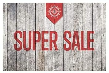 CGSignLab Nautical Wood Heavy-Duty Outdoor Vinyl Banner 12x8 Super Sale