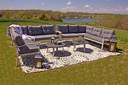 Adjustable Patio Lounger (Aluminum 6pc Adjustable Lounger Patio Furniture Sectional with Premium Outdoor Cushions)