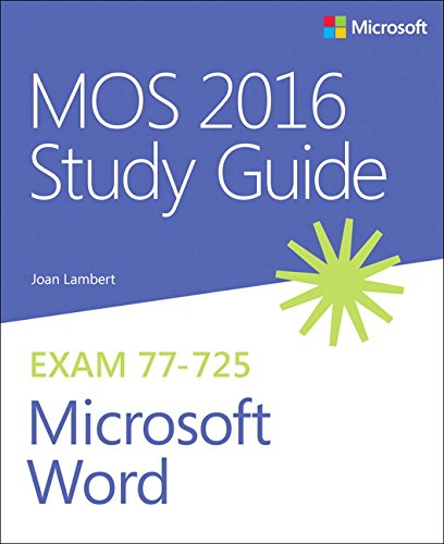Price comparison product image MOS 2016 Study Guide for Microsoft Word (MOS Study Guide)