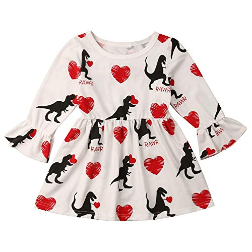 Toddler Girl Valentines Day Dresses - YOUNGER TREE Valentine's Day Toddler Baby