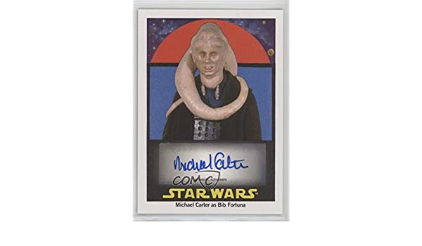 Michael Carter; Bib Fortuna #88/99 (Trading Card) 2017 Topps Star Wars Sugar-Free Bubble Gum - Autographs #MIBI at Amazons Entertainment Collectibles Store